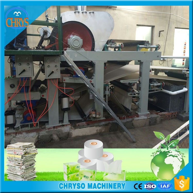 Manufacturer Small Business Tissue Paper Machine / Toilet Paper Making Plant