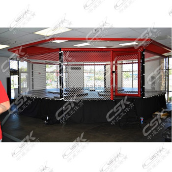 Octagon fighting MMA Cage