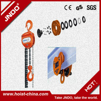 Manual types of 5 ton chain pulley block made in China