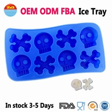 Amazon Flexible Rubber Funny Novelty Funky Fancy Cool Maker Trays Minecraft Silicone Bar Ice Cube Molds For Cocktails