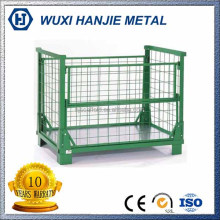 Stackable metal wire cage pallets portable storage containers wholesale