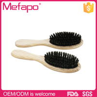 Natural soft touch wooden paddle boar bristle hair brush