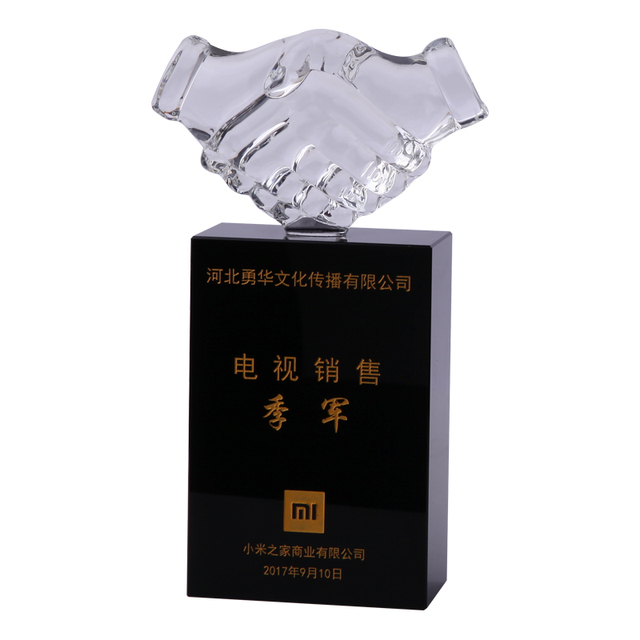 Cheap custom black crystal award cups sport trophies and medal