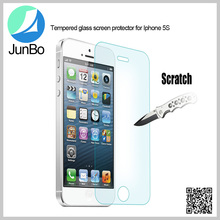 Clear Premium Anit-scratch Tempered Glass Mobile Phone Screen Protector For iphone 5s