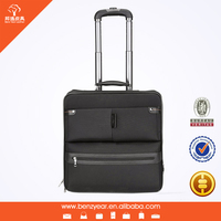 Travel Trolley Luggage Bag 16 inches Retractable Rod Brown Nylon 2 Wheels with Laptop Set Polo Luggage