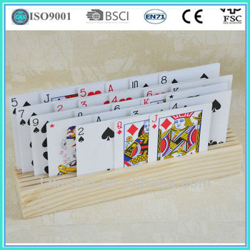 Wooden Playing Cards Holder ,Gambling board games