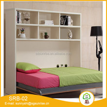 Modern Children Bedroom furniture MDF wooden kids bunk bed with slide