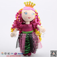 ICTI audited plush colorful stuffed princess doll