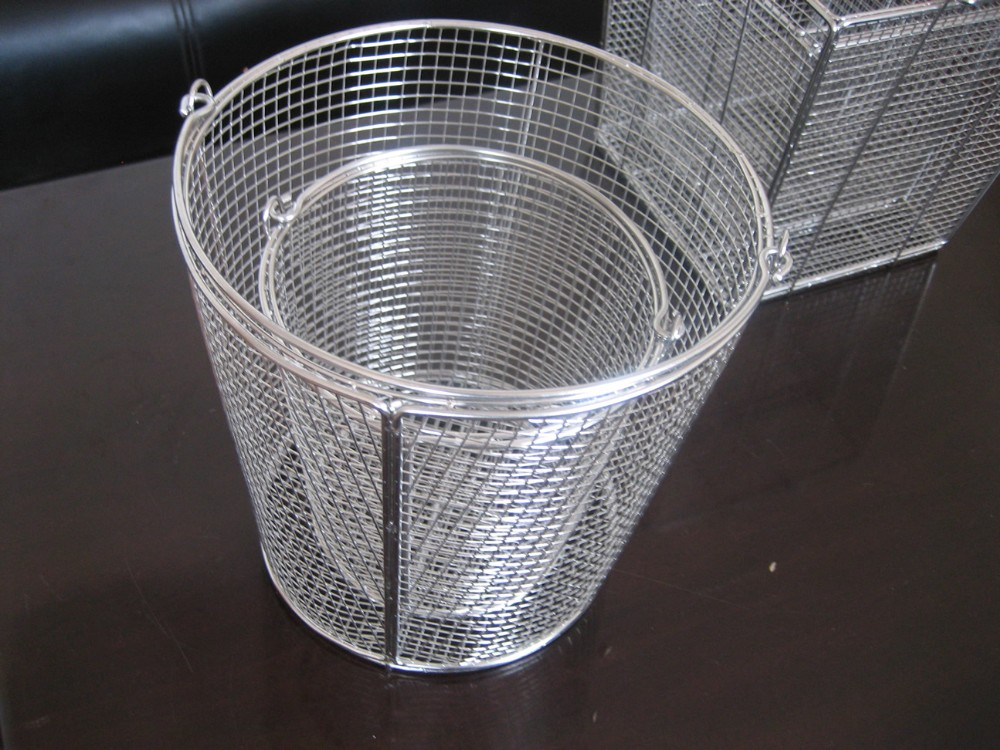 small round recyable industrial stainless steel wire mesh basket for hydroponics