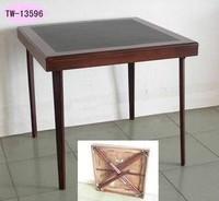 Cheap wooden foldable mahjong table