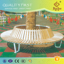 Outdoor Wood Round Tree Bench Brackets BH15205
