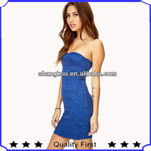 summer newest fashion casual ladies dresses new fashion 2013,sexy young ladies blue off shoulder dress