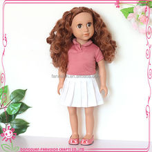 "Small Long Curly Princess Wholesale 18"" Child Size Doll"