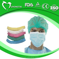 Non woven disposable medical surgical mop clip head cover/caps with different colors and sizes available to choose