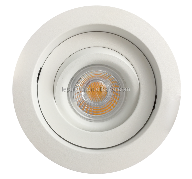 lens 360 angle tilt cob led downlight cct adjustable 2000 to 2800k dim to warm 83mm cut