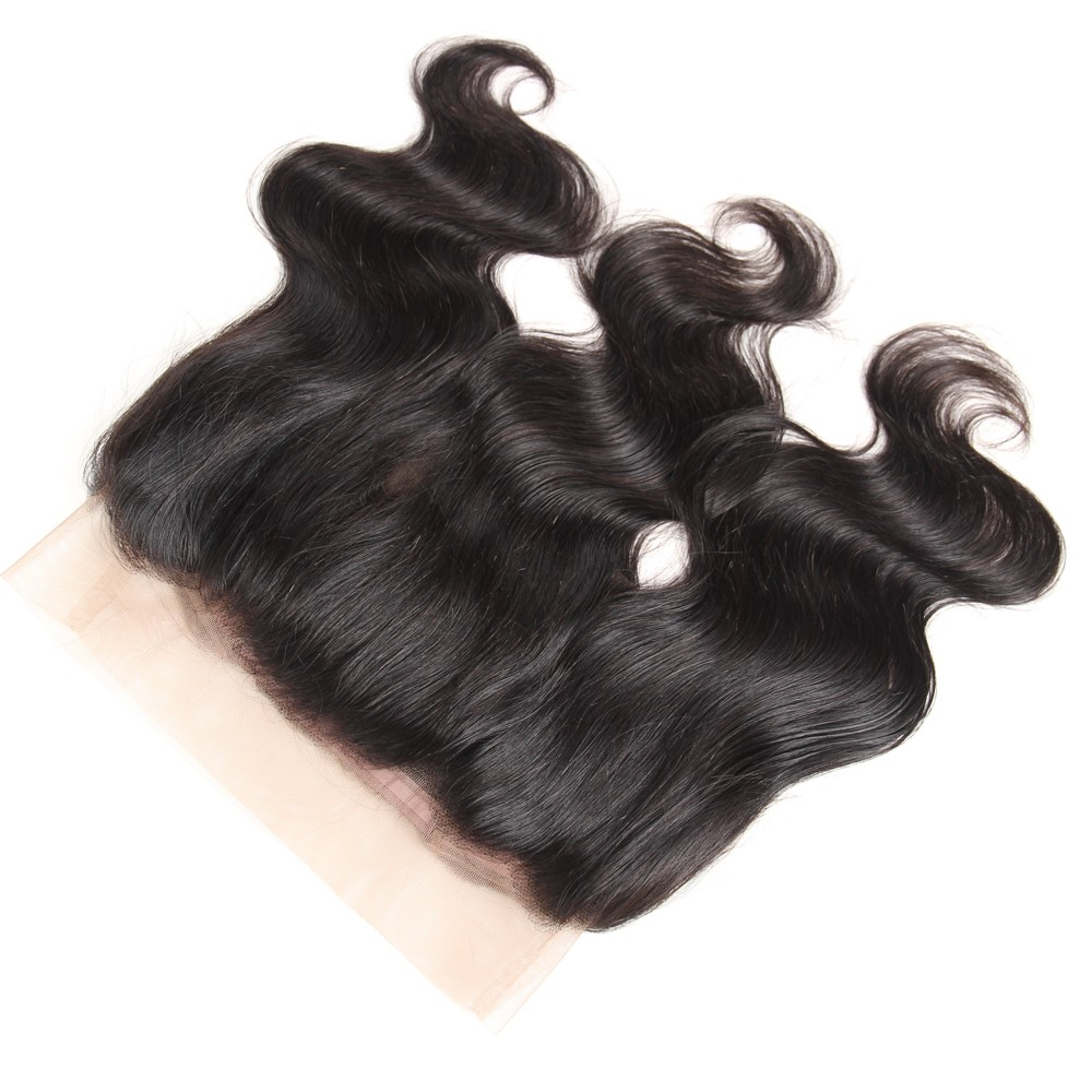 Mink Brazilian Virgin Human Hair Extension Perruque 360 Frontal Body Wave Lace Closure