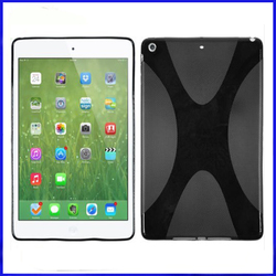 For iPad Air TPU Case,X Line Soft TPU Back Cover Case for Apple iPad Air