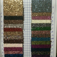 PU Glitter Raw Leather For Sale