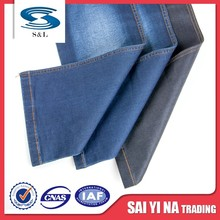 Production and sales womens trousers cotton woven denim fabric in bulk