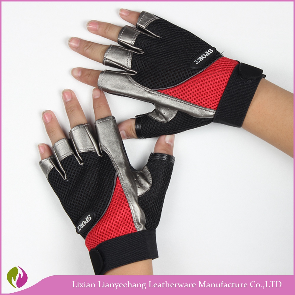 Outdoor sports motocross off road motorcycle riding glove fingerless cycling gloves