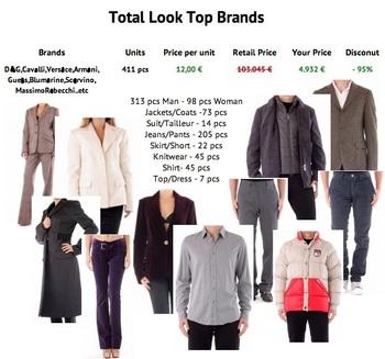 italian top brandstotal look mixed clothingman and
