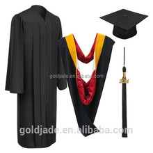 Customized Bachelor Gown University Black Graduation Gown