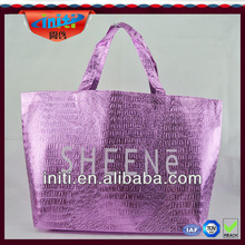Nonwoven metallic tote bag