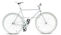 Chinese fixed gear bike Hi-ten Steel Road Bike 26'' light wheel road bike
