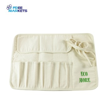 Eco Natural Organic Cotton Casual Makeup Brash Holder/Make Up Cosmetic Storage Bag