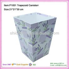 Decorative handmade paper waste bin