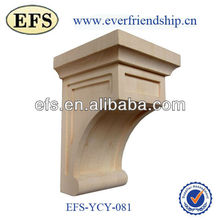 hot sale hand carved wood wall decor for architectural corbels