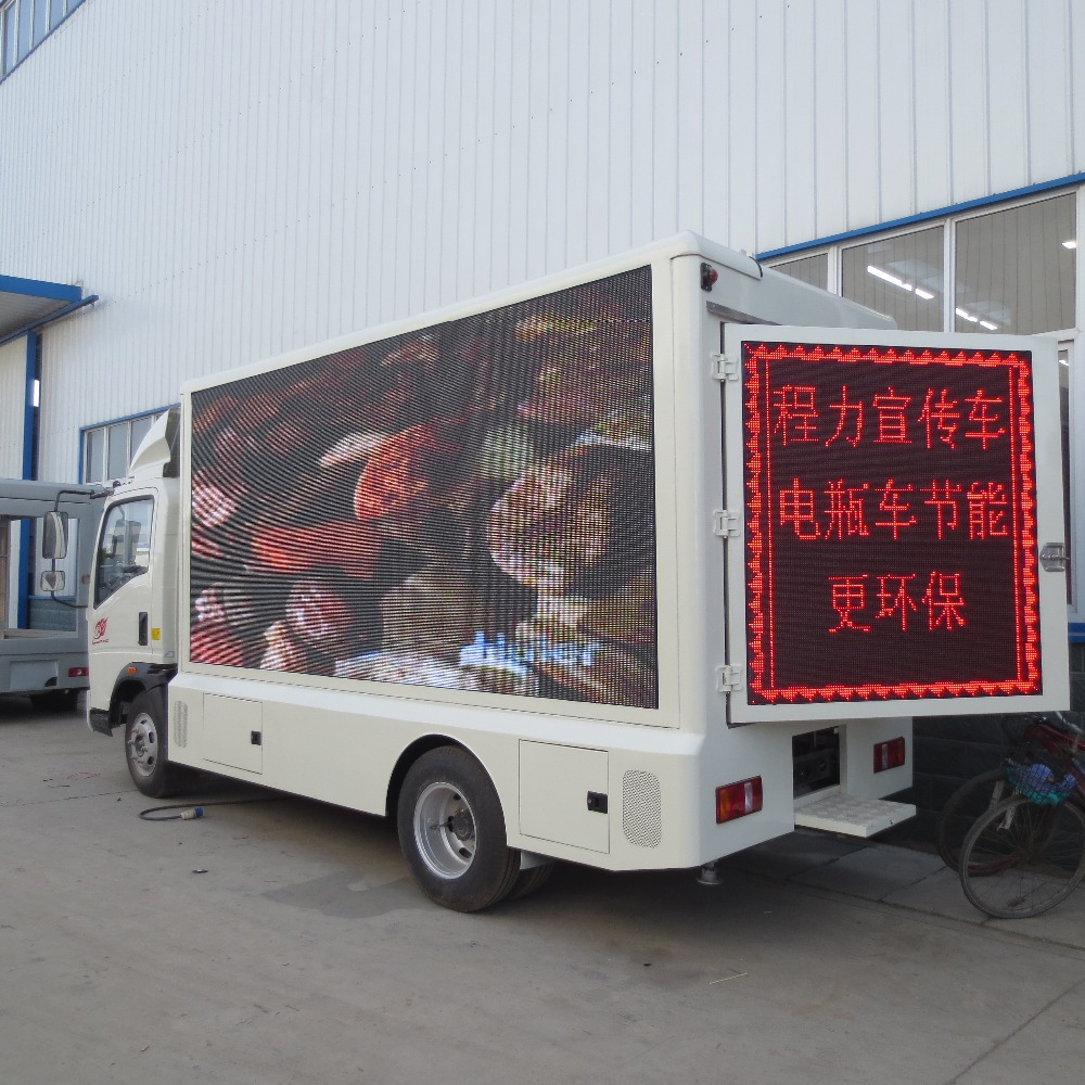 P10 sexy movie full open advertising outdoor color commercial mobile led screen truck