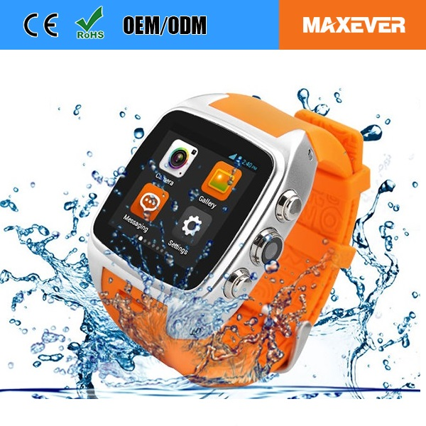 Ip65 Advanced Technology, Structural Waterproof Android 4.4.2 Video Call Watch Phone