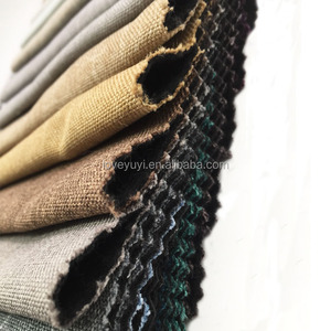 100% Polyester space yarn dyed linen fabric for sofa cushion