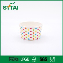6oz high quality disposable food grade paper hot soup bowl with lid