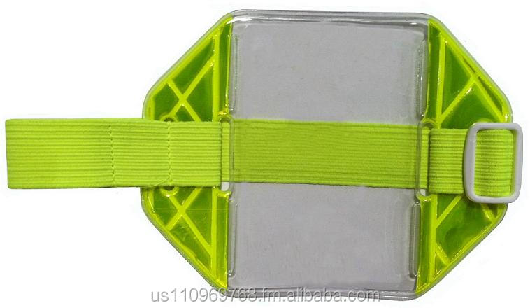 Reflective Yellow Armband ID Holder
