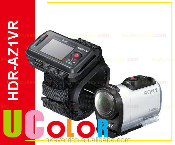 Genuine Sony Action Cam HDR-AZ1VR Wi-Fi GPS Video Camera Camcorder & Live View Remote