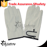 SRSAFETY heat preservation PIG grain leahter driving gloves / winter gloves for anti cold,magic buckle