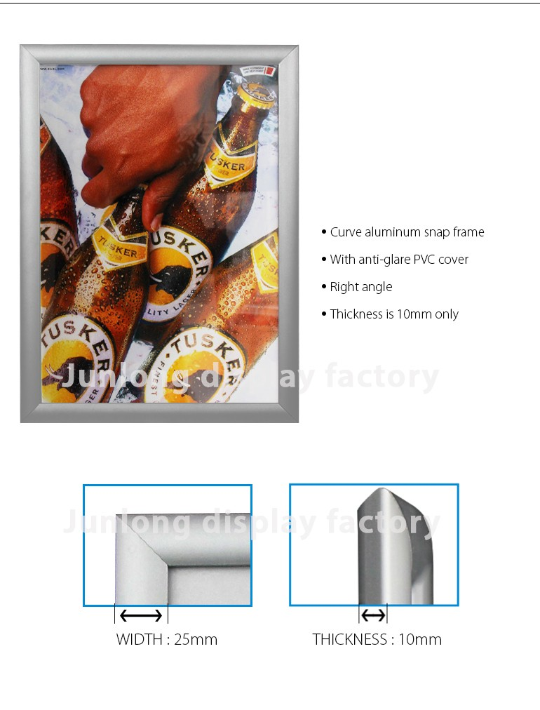 Cheap Price Aluminum Picture Frame Advertising Poster Display Frame ...