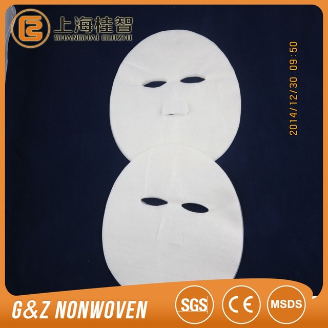 Alginate fiber face mask sheet dry sheet mask