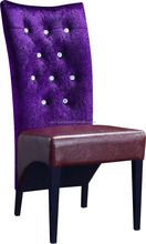 Luxury Used Cafe Chair Coffee Shop Chair High Back Button Tufted Fabric Chair