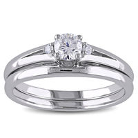 PES Fashion Jewelry! 3 Pieces Stone Diamond Bridal Stackable Ring Set (PES6-1666)