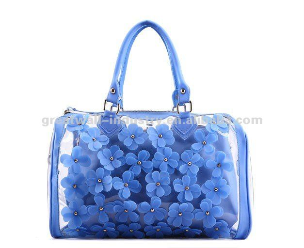 New Fashion Women Sweet Jelly Clear transparent PVC Handbag