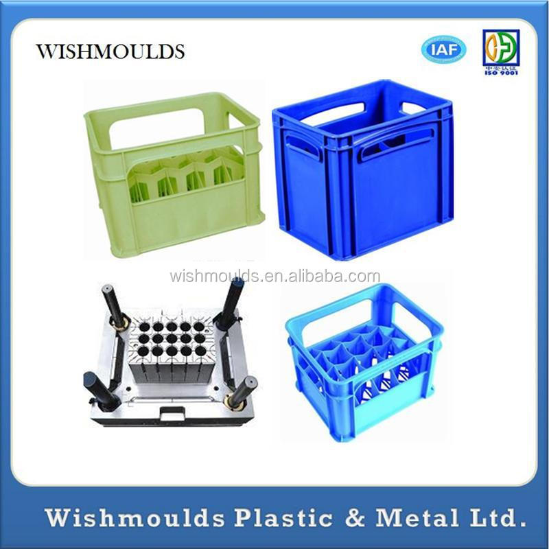 custom 24 bottles beer case/crate plastic injection mould