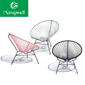 Outdoor colorful wicker rattan egg chair leisure garden balcony furniture