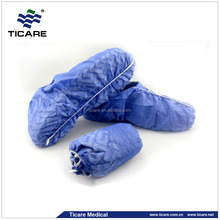 blue reusable hospital anti slip shoes cover