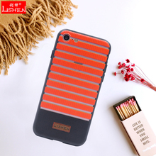 New arrival tpu pc cross stripes texturing mobile phone case for iphone 5 6 6plus 7 7plus