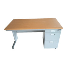 School office teacher used MDF board computer desk / metal office desk