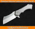 TC4 Titanium Handle D2 Knife Tactical Folding Knife EDC Tools 61HRC Hunting Camping Knives 7209