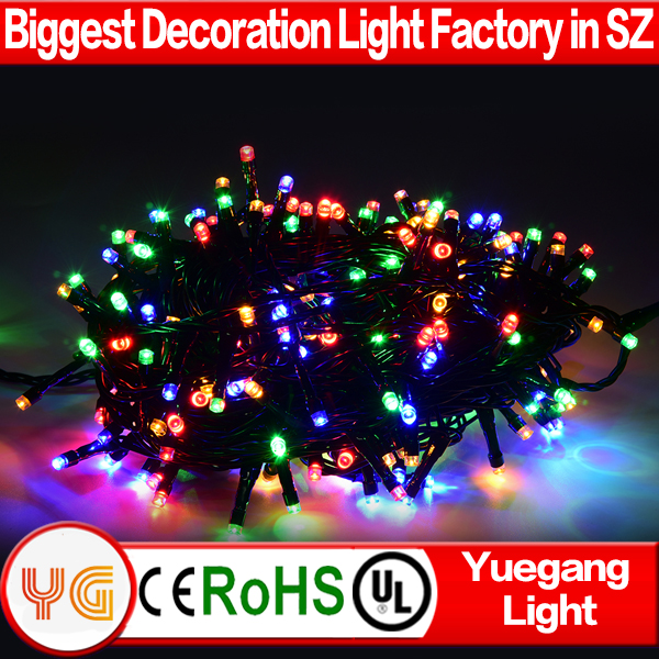 Christmas decoration 24V 30m 200led christmas light trade in lowes warm white led cluster light with 8 function UL approved plug